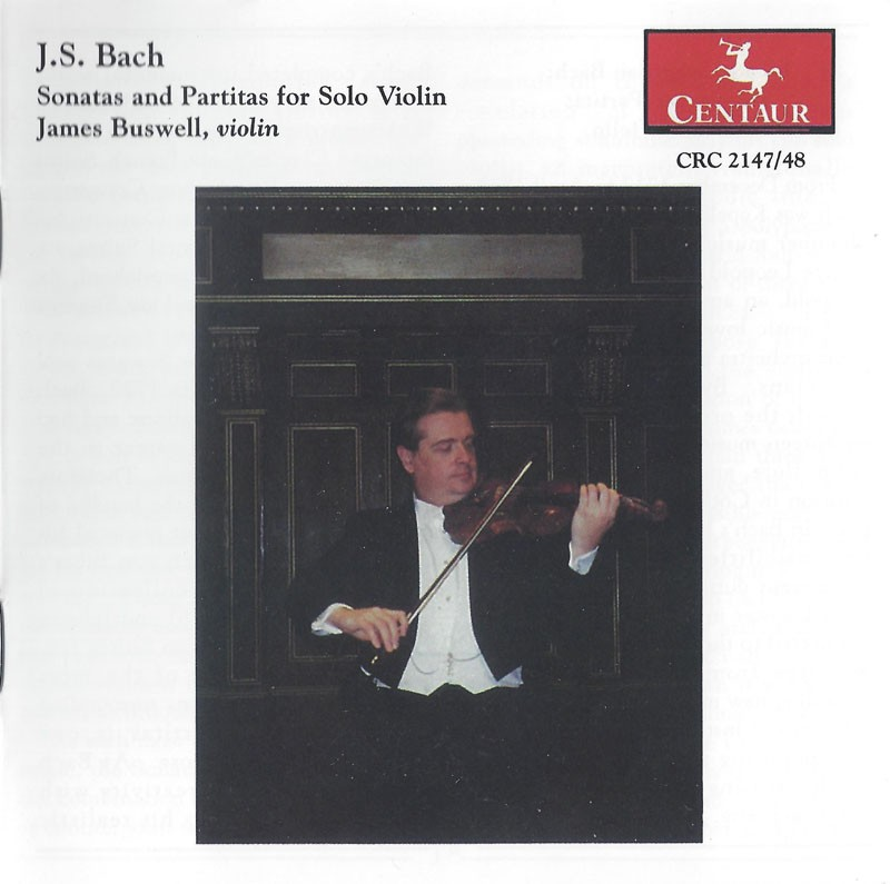 CRC 2147/2148 J.S. Bach:  Sonatas and Partitas for Solo Violin, BWV 1001-1006