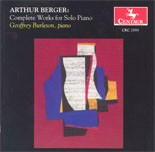 CRC 2593 Arthur Berger: Complete Works for Solo Piano.  Episodes