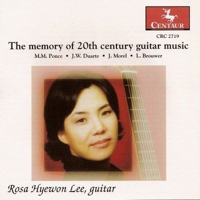 CRC 2719 The Memory of 20th Century Guitar Music. M. M. Ponce: Sonata III