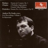 CRC 2770 Andrew De Grado:  Live Recordings Volume 2.  Johannes Brahms:  Sonata in C Major, Op. 1