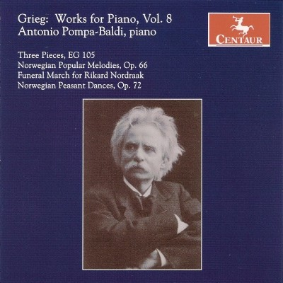 CRC 2895 Grieg:  Works for Piano, Vol. 8.  Three Pieces, EG 105