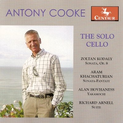 CRC 3012 Antony Cooke:  The Solo Cello.  Zoltan Kodaly:  Sonata Op. 8