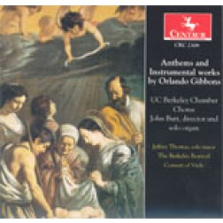 CRC 2308 Anthems and Instrumental Works by Orlando Gibbons