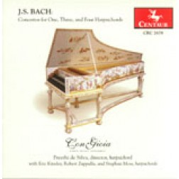 CRC 2678 J.S. Bach: Concertos for One, Three, and Four Harpsichords.  Concerto in D Minor for Harpsichord, BWV 1052