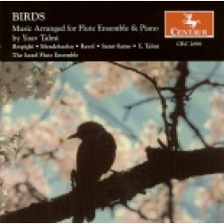 CRC 2696 Birds: Music Arranged for Flute Ensemble & Piano by Yoav Talmi.  Ottorino Respighi: The Birds, suite