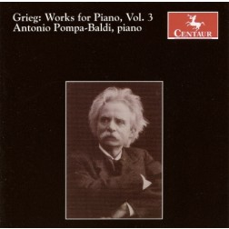 CRC 2726 Grieg:  Works for Piano, Vol. 3.  Improvisata on two Norwegian Popular Melodies, Op. 29
