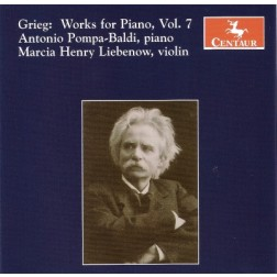CRC 2886 Grieg:  Works for Piano, Vol. 7.  Sonatas for Violin and Piano, Op. 45, Op. 13 & Op. 8