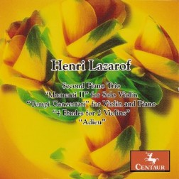 CRC 2948 Henri Lazarof:  Second Piano Trio