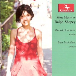 CRC 3103 More Music by Ralph Shapey.  Sonata for violin and piano (1949)